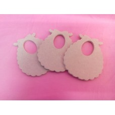 MDF Baby Bib 100mm in size pack of 3